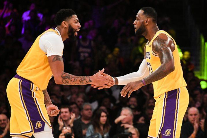 Anthony Davis i LeBron James (LA Lakers)/Foto REUTERS