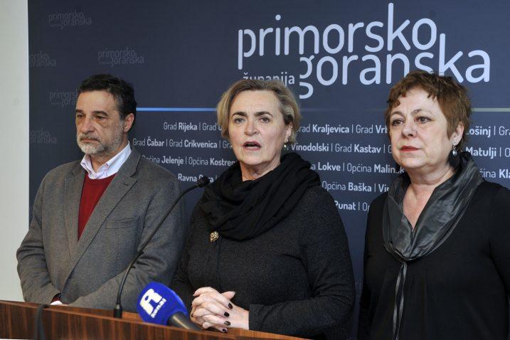 Erik Fabijanić, Gordana Saršon i Helena Štimac Radin /  Foto Vedran KARUZA