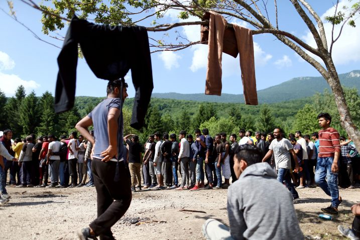 Ilustracija kampa Vučjak (ne prikazuje migrante iz teksta) / Foto Reuters