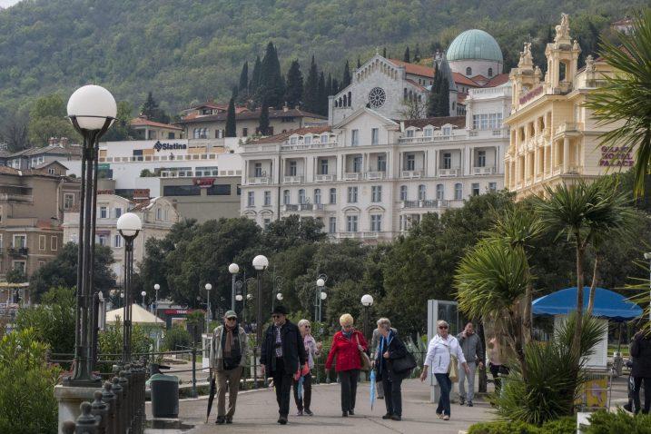 Predsezona u Opatiji u znaku optimizma, no kakvo će biti turističko ljeto, još je neizvjesno / Snimio Marin ANIČIĆ