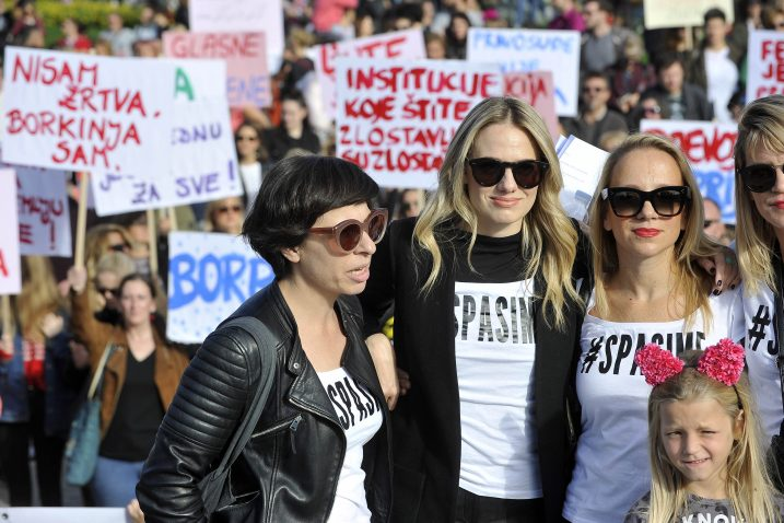 Sa zagrebačkog prosvjeda Pravda za djevojčice / Foto Davor Kovačević