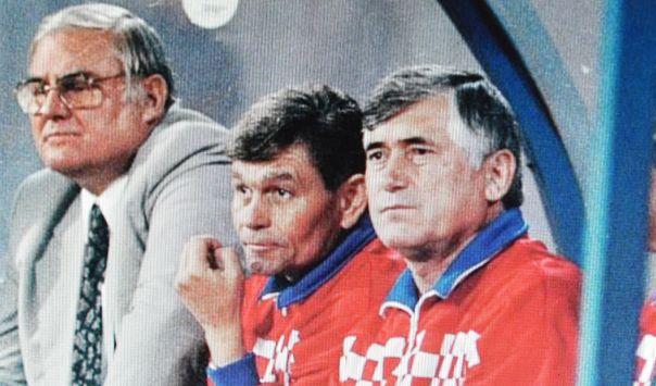 Dražan Jerković, Zdenko Kobešćak i Vladimir Lukarić na prvoj utakmici u Maksimiru
