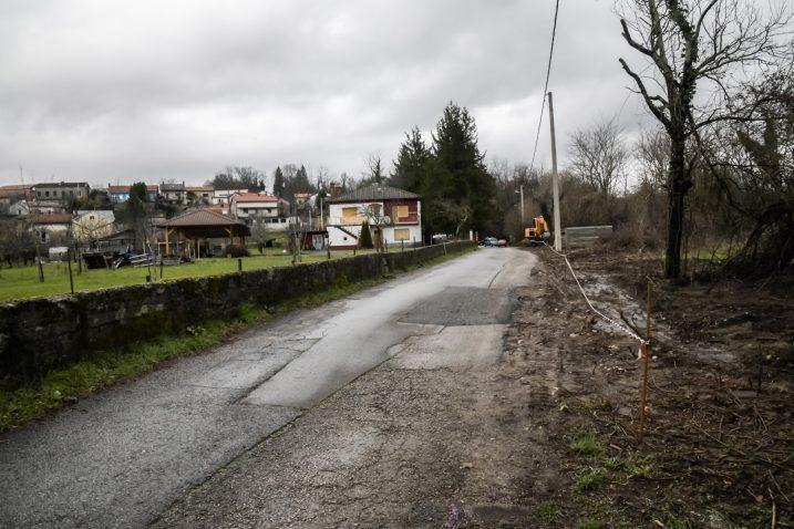 Obnovit će se i betonski zid uz cestu