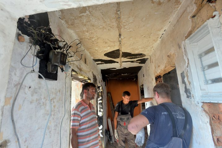 Kuća obitelji Butković u požaru je stradala u listopadu 2019. / Snimio Damir ŠKOMRLJ