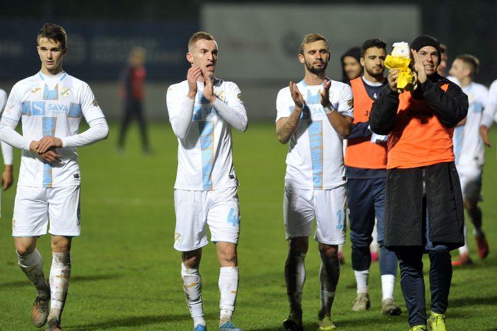 Igrači Rijeke nakon utakmice u Varaždinu/D. KOVAČEVIĆ
