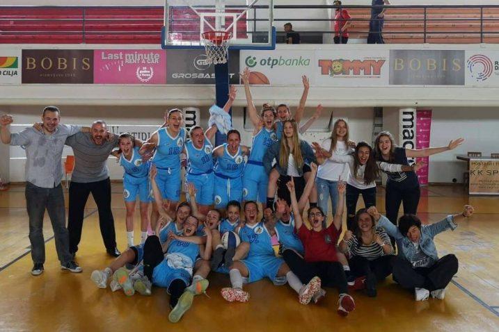 Košarkašice FSV-a nakon trijumfa u Splitu