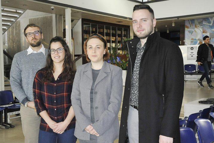 Mentor Matija Miloš i studenti Martina Tičić, Romana Crgol i Toni Pelić / Foto: S. DRECHSLER
