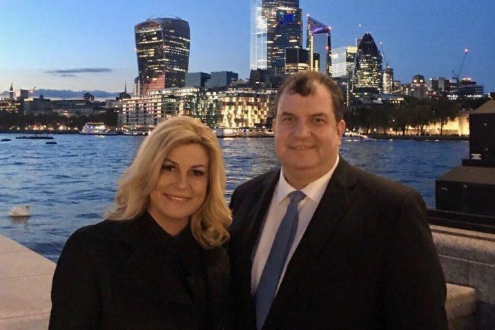 Kolinda Grabar Kitarović i Jakov Kitarović u Londonu