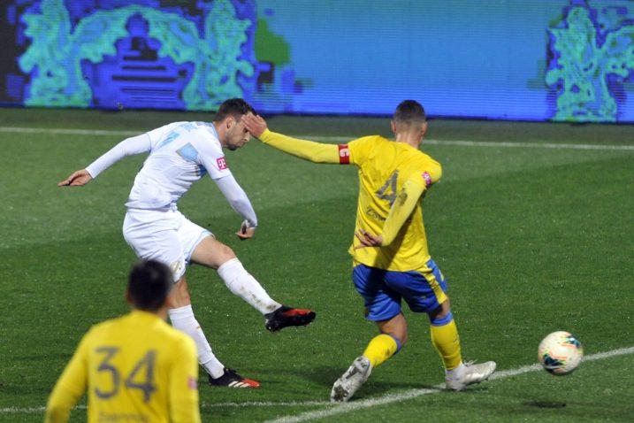 Robert Murić netom nakon što je poslao loptu u zaprešićku mrežu/V. KARUZA