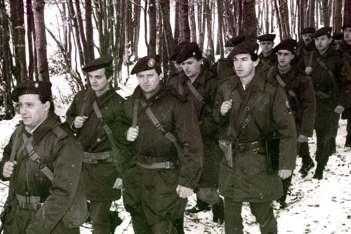 Pripadnici 128. brigade dolaze na ličko ratište / Foto arhiva