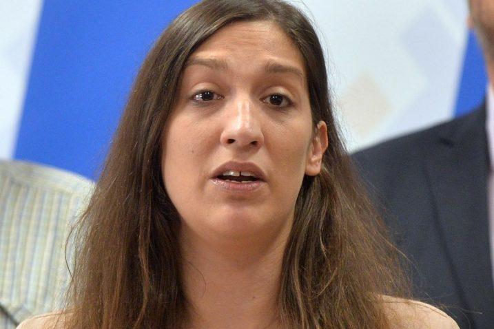 """Ivona Milinović je jedno kritizirala Torcidine antisrpske ispade kao """"orjunašku politiku"""" jer takvi napadi na Srbe, kaže, daju argumente Pupovcu / Snimio Damir ŠKOMRLJ"""