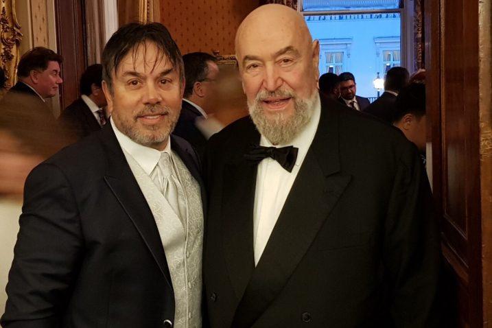 Zoran Žgaljardić i John A. Netting, snimljeni na dodjeli nagrade TOP 100 Foruma dostignuća