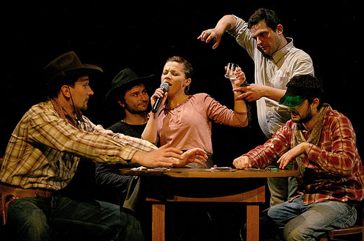 Scena iz predstave Kauboji / Foto: teatarexit.hr
