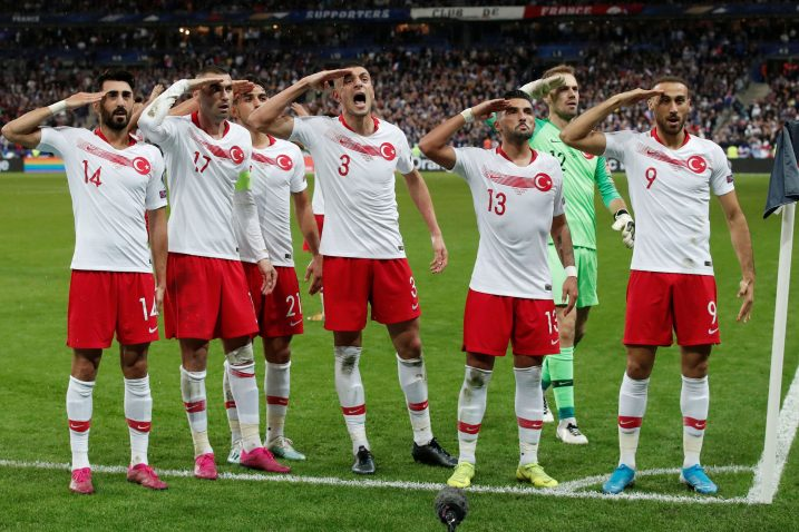 Turski reprezentativci na Stade de Franceu/Foto REUTERS