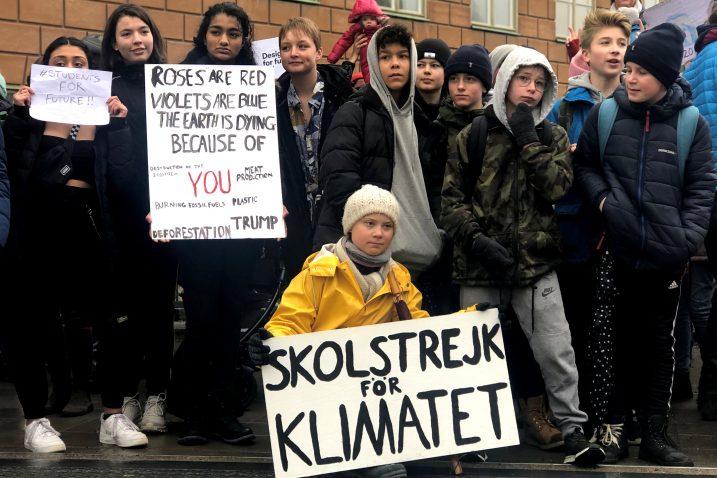 Prosvjedu, odnosno pokretu koji je još u kolovozu prošle godine u Švedskoj pokrenula 16-godišnja aktivistica Greta Thunberg / Foto Reuters