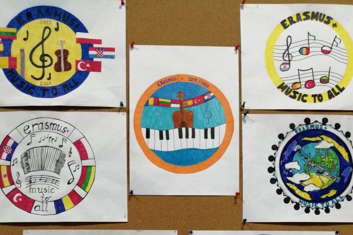 Učenici su pod mentorstvom učitelja likovne kulture Ive Brajanića izradili prijedloge loga projekta
