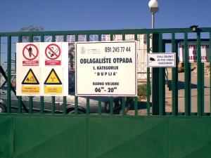 Sanacija odlagališta počela je 2005. godine