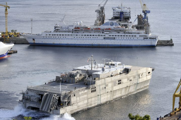 USNS »Trenton« ostat će u brodogradilištu »Viktor Lenac« puna četiri mjeseca / Snimio Vedran KARUZA
