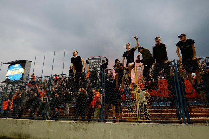 Varaždinski navijači burno su proslavili povratak u Prvu HNL/Foto PIXSELL