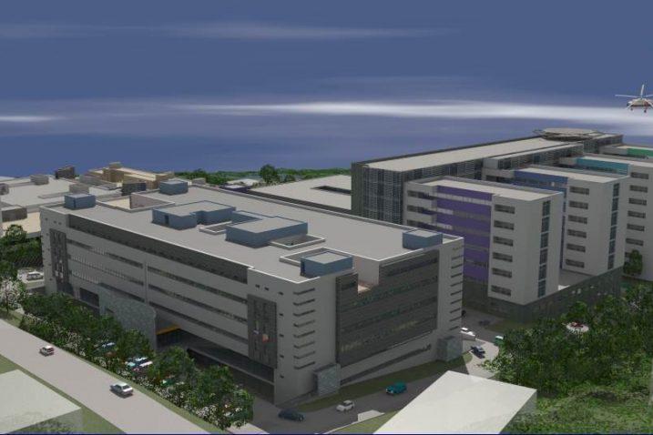 Simulirani izgled nove riječke bolnice na lokalitetu Sušak
