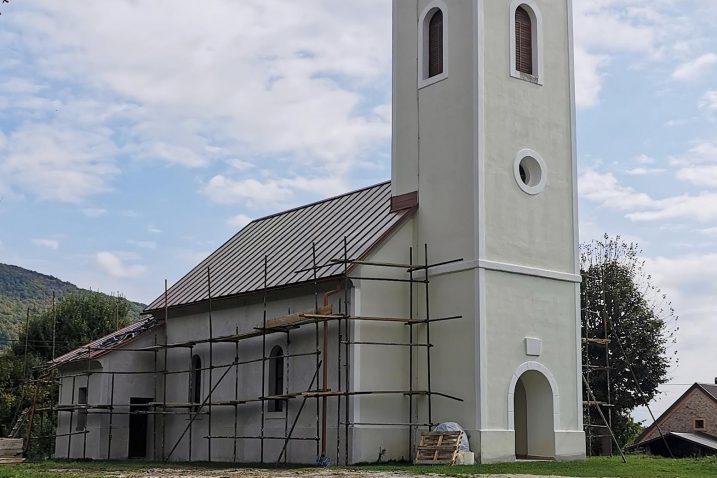Crkva sv. Nikole biskupa je u zadnjoj fazi obnove / Foto M. SMOLČIĆ