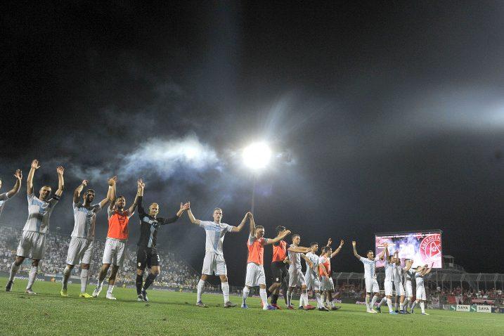 Riječko slavlje istekom utakmice protiv Aberdeena/Foto R. BRMALJ