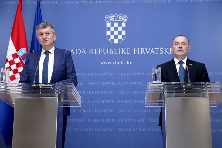 Ministri Milan Kujundžić i Tomo Medved / Foto: P. MACEK / PIXSELL
