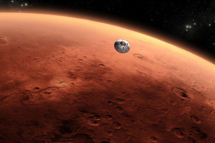 FOTO/Mars i Curiosity, Wikimedia Commons
