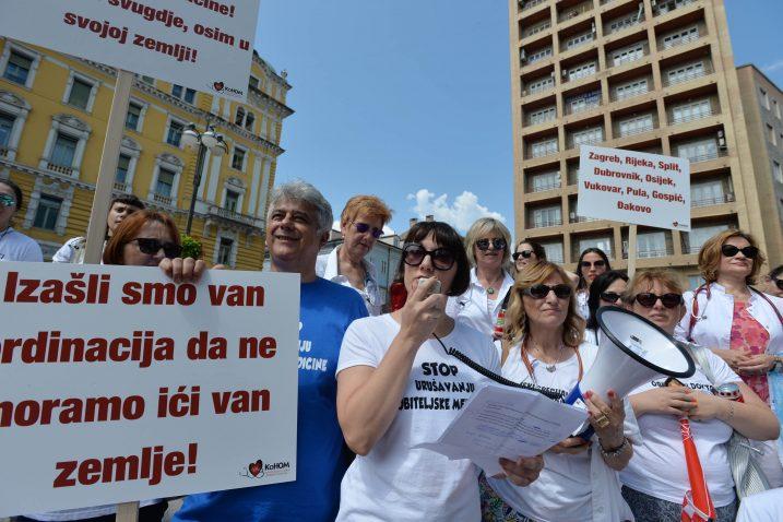 Lanjski štrajk medicinara / Snimio Damir ŠKOMRLJ