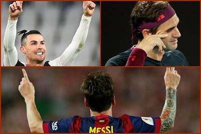 Cristiano Ronaldo, Roger Federer i Leo Messi