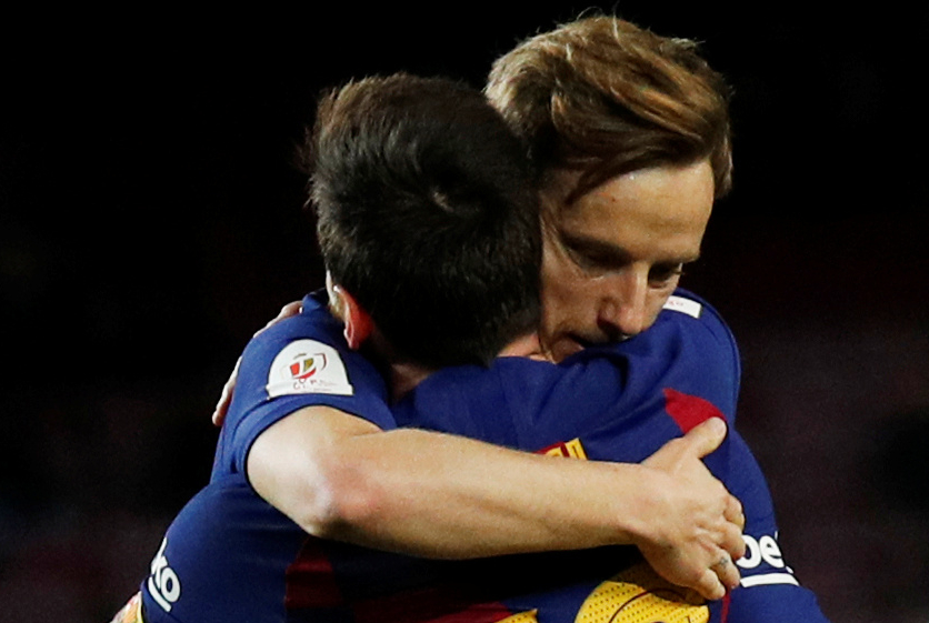 Ivan Rakitić i Leo Messi/Foto REUTERS