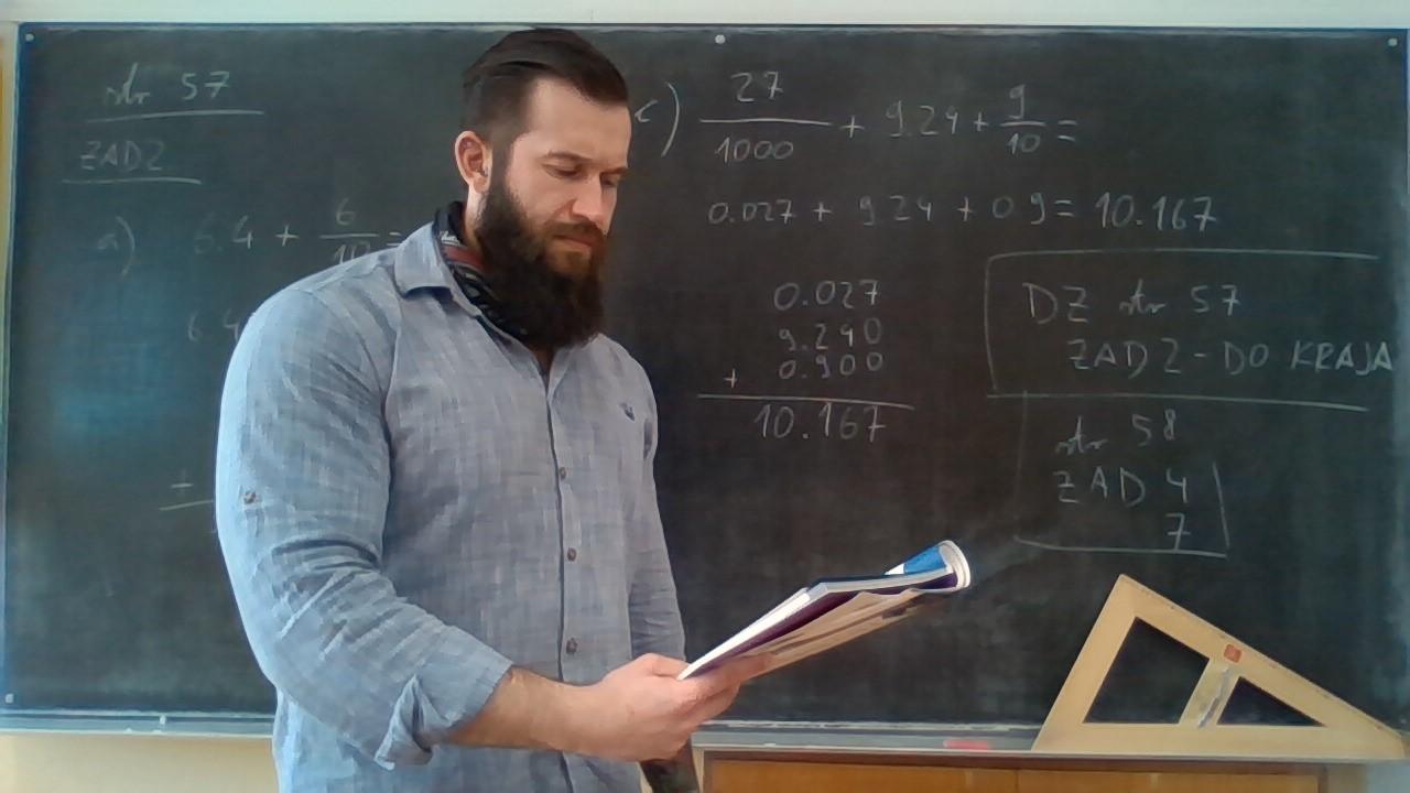 Marko Kovačić dan započinje kao »online« profesor