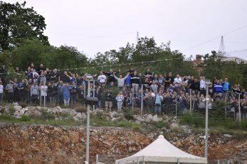 Ovako su navijači Rijeke gledali utakmicu protiv Osijeka/Foto R. BRMALJ