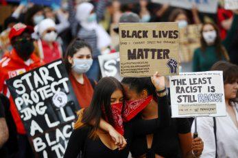 Prosvjed protiv rasizma u Londonu / Reuters