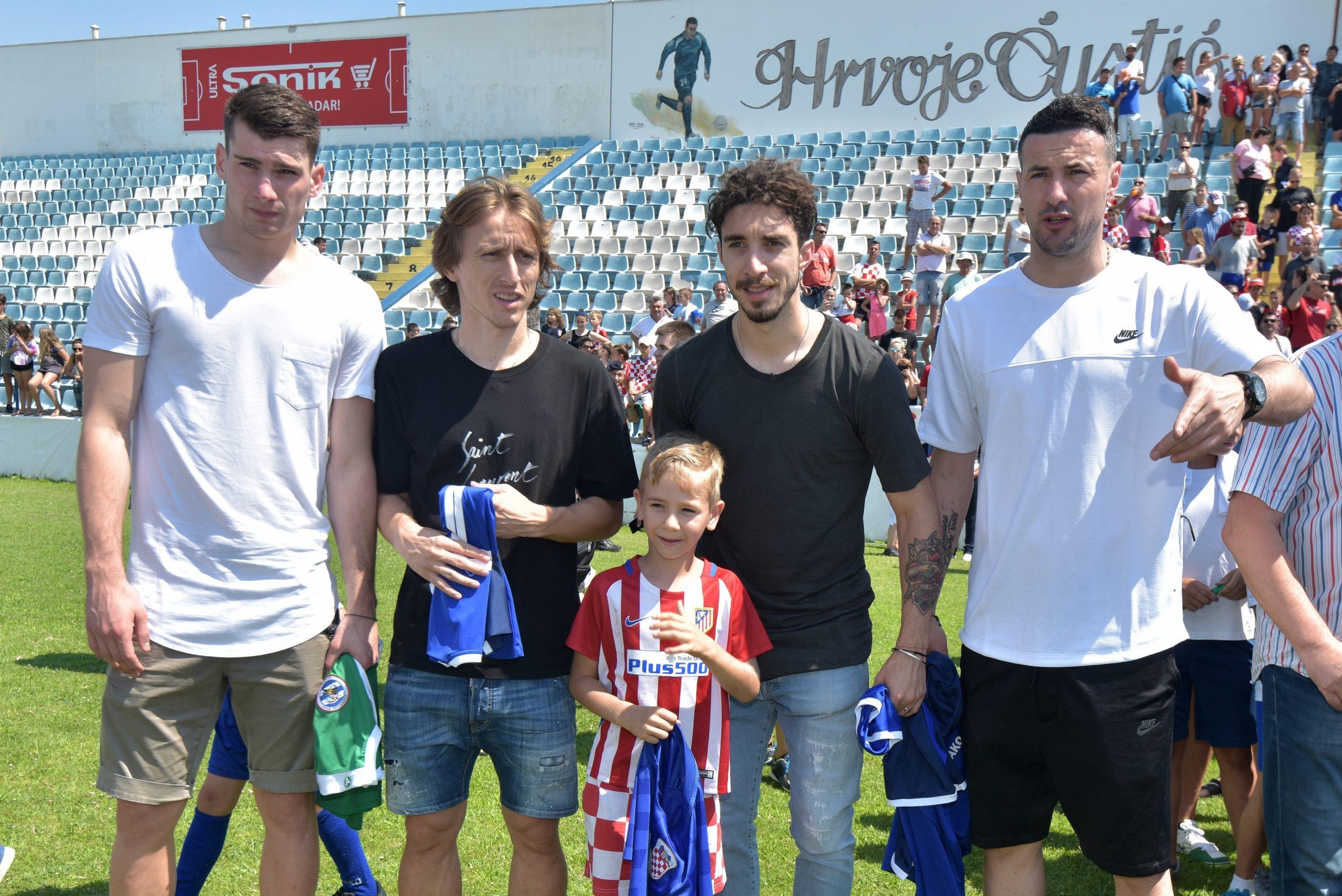 Šime Vrsaljko, Dominik Livaković, Danijel Subašić i Luka Modrić ponikli su u NK Zadru/Foto PIXSELL