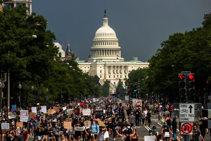 Prosvjedi protiv rasizma u Washingtonu / Reuters