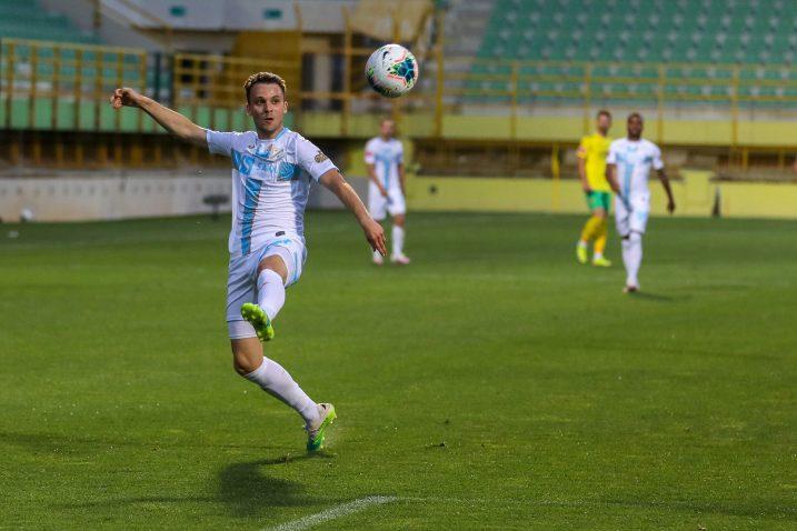 Robert Murić trenutak prije lob udarca i pogotka u Puli/Foto PIXSELL