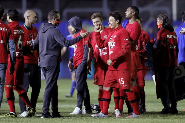 Nogometaši Bayera slave ulazak u finale/Foto REUTERS