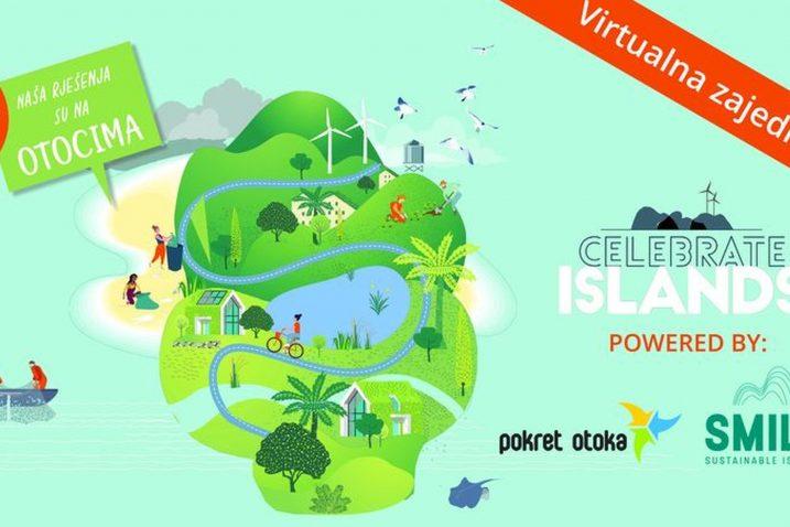 Logo »Celebrate islands« programa koji je u formi nedavno održanog webinara provela udruga »Pokret otoka« / Foto M. TRINAJSTIĆ