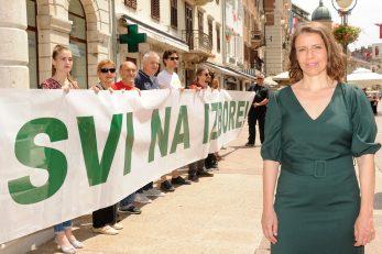 Svi na izbore - poručili su kandidati lijevo-zelene koalicije na čelu s Katarinom Peović / Foto M. GRACIN