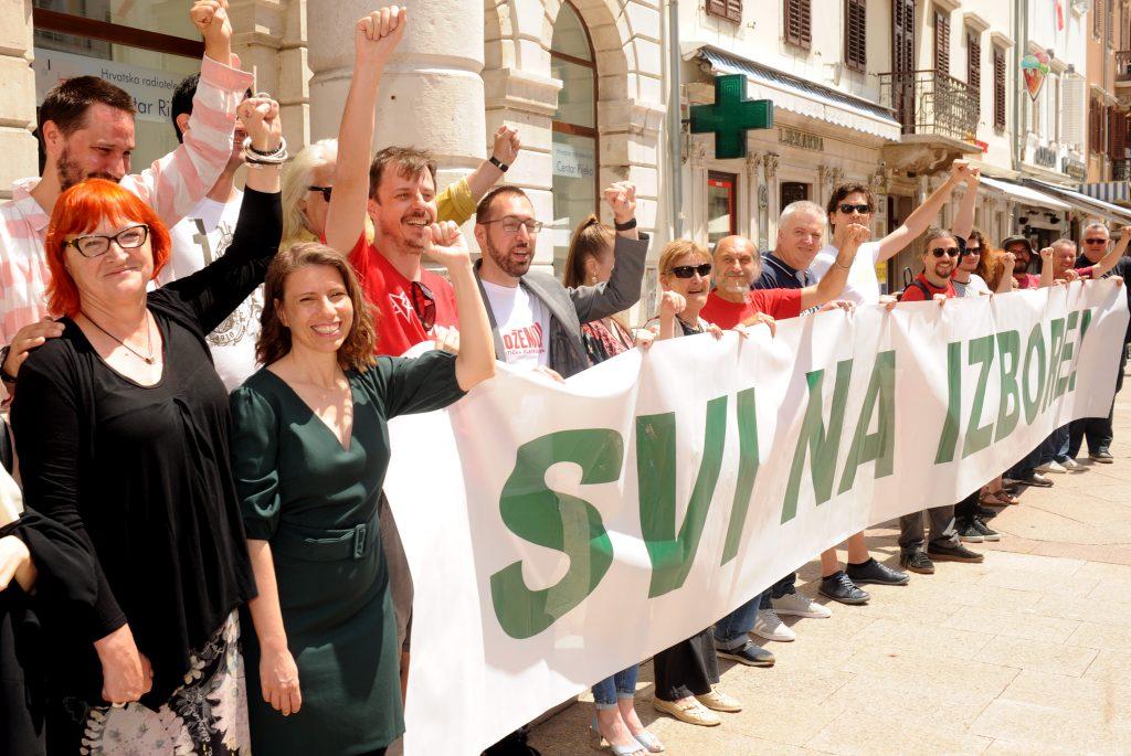 Lijevo-zelena koalicija / Snimio Marko GRACIN