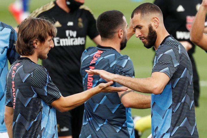 Luka Modrić i Karim Benzema/Foto REUTERS