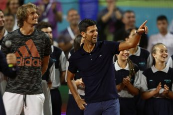 Alekxander Zverev i Novak Đoković/Foto REUTERS