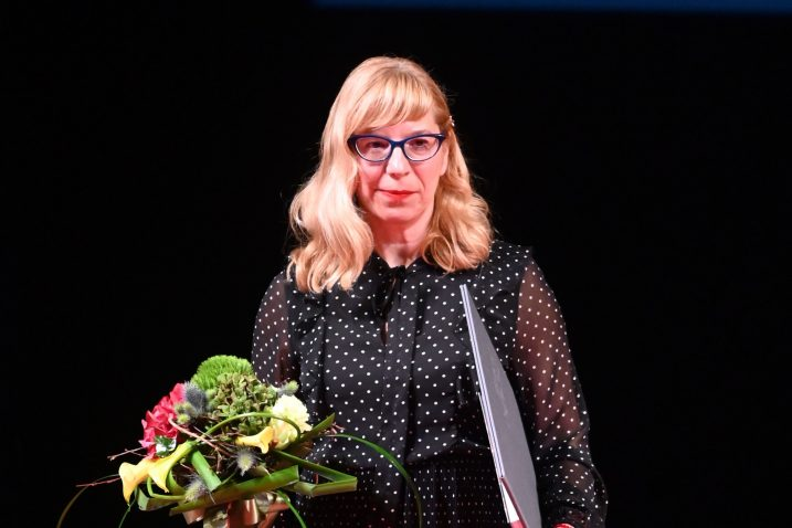 Magdalena Lupi Alvir prilikom dobivanja Nagrade Grada Rijeke / Foto Vedran KARUZA