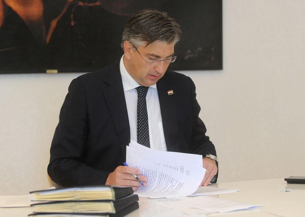 Andrej Plenković u radnom okruženju, snimio Darko Jelinek