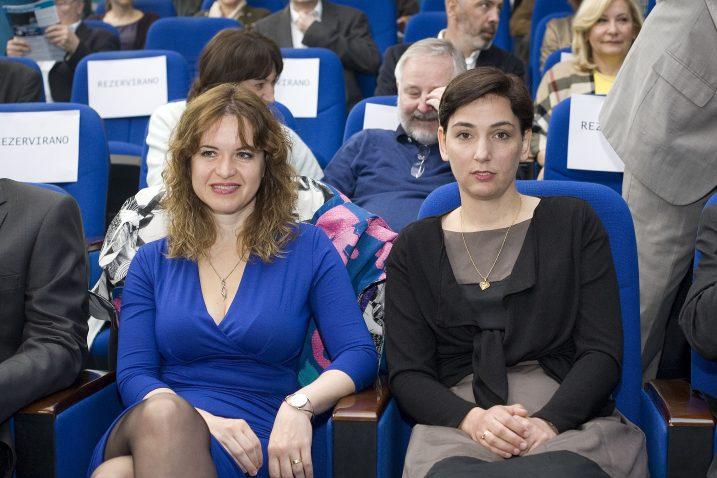 Dr. Iva Tolić i dr. Ana Sunčana Smith na insitutu Ruđer Bošković / Foto: Zeljko Grgic / CROPIX