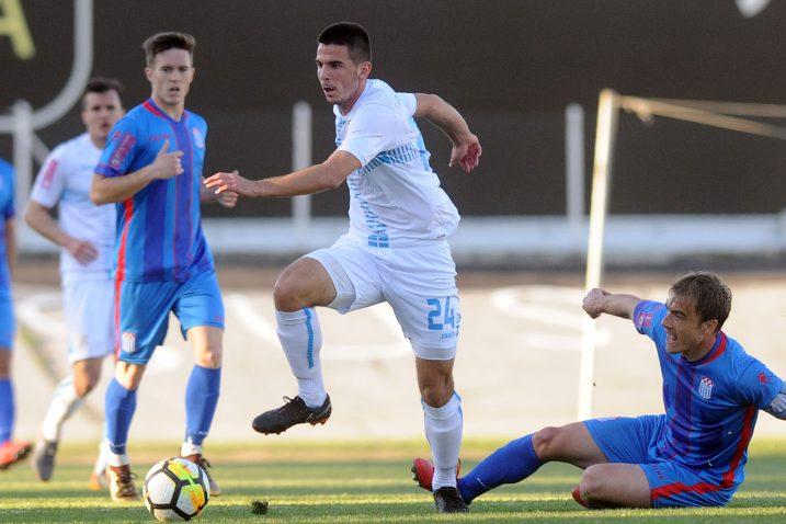 Domagoj Pavičić postigao je pogodak protiv »Rudeša«, ali Riječani su doživjeli uvjerljiv poraz / Foto Davor KOVAČEVIĆ