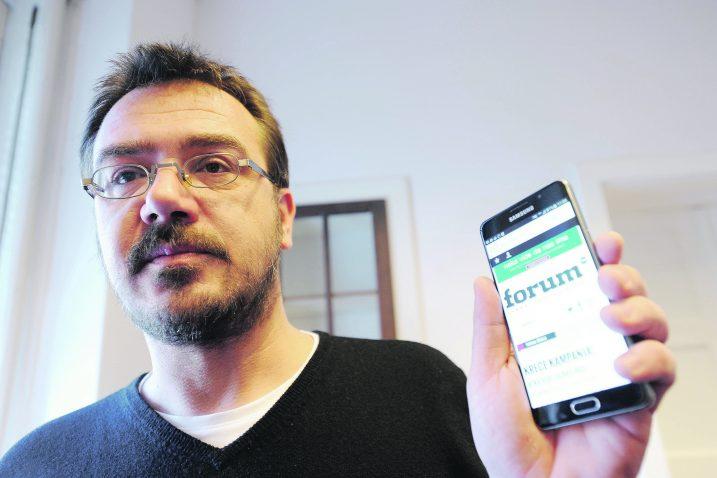 Borković je objavio da su čitatelji i oni voljni pomoći tom mediju u posljednjih mjesec dana putem platforme Indiegogo uplatili 9045 dolara, od čega 8385 ide na račun Forum.tm,, a ostatak odlazi za razne naknade / Snimio Davor KOVAČEVIĆ / NL arhiva