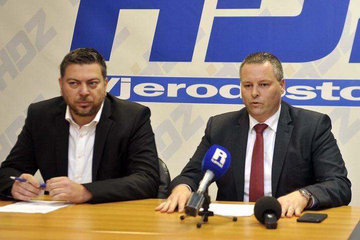 Nećemo dopustiti da nas diskreditiraju - Kristjan Staničić i Josip Ostrogović / Snimio Vedran KARUZA