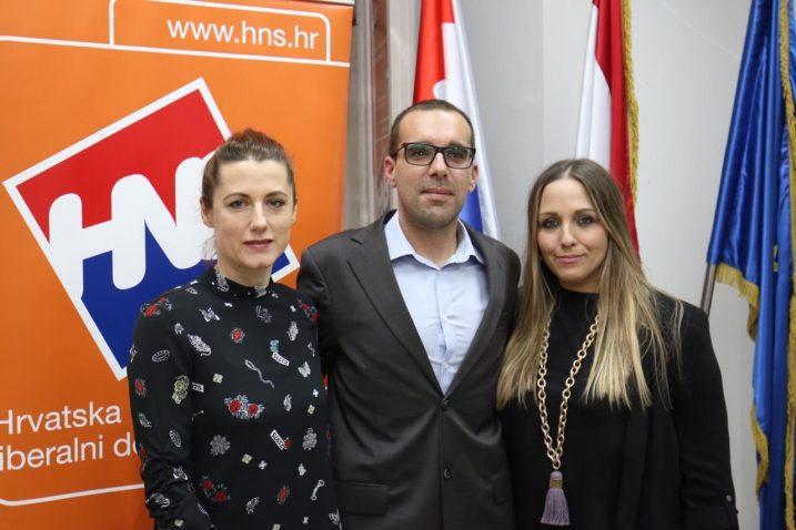 Morana Jokić, Sandro Vizler i Jana Sertić – novo vodstvo HNS-a Rijeka / arhiva NL